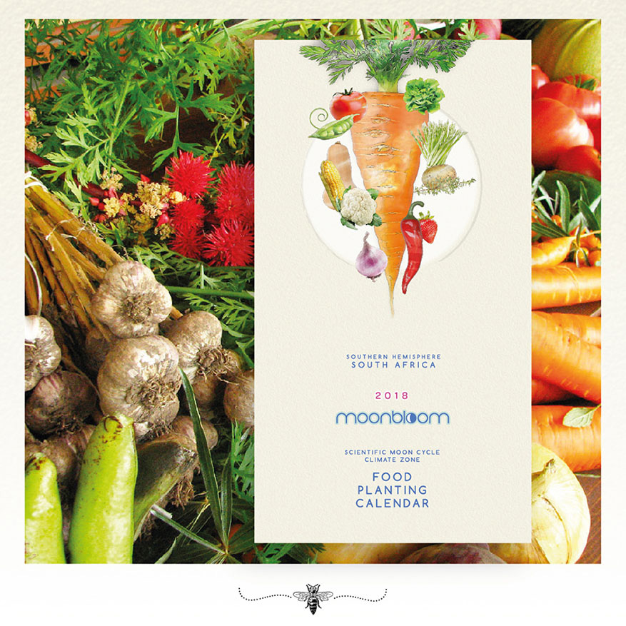 Moonbloom South African vegetable and herb scientific moon cycle and climate zone food planting calendar